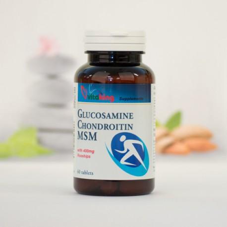 Glükozamin + Kondoritin + MSM komplex porcerősítő tabletta (60 db)