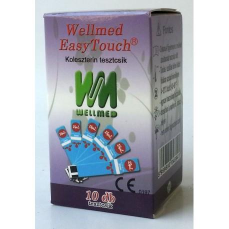 Koleszterin tesztcsík Wellmed Easy Touch GC-hez 10 db-os