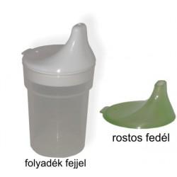 Betegitató pohár híg és sűrű folyadék fejjel