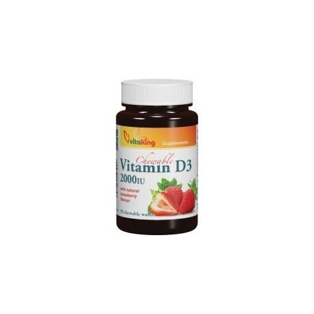 D-vitamin 2000NE rágótabletta  90db
